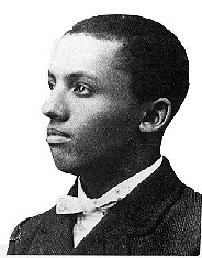 Portrait of African-American historian Carter Godwin Woodson as a young man. Courtesy of the New River Gorge National River website, National Park Service, Department of the Interior, United States Government.