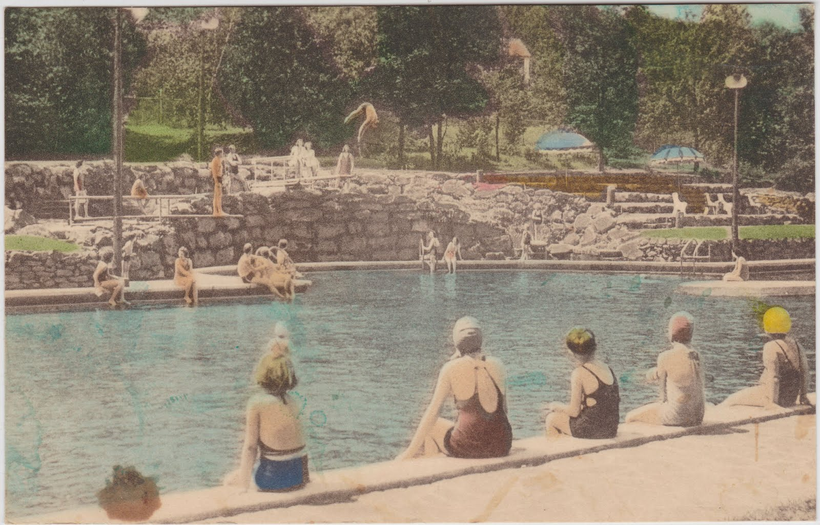 The Olympic size swimming pool at the Buck Hill Inn.