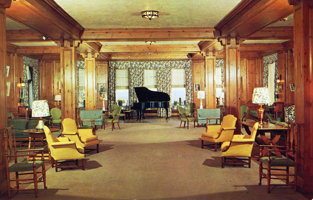 Inside the Buck Hill Inn.