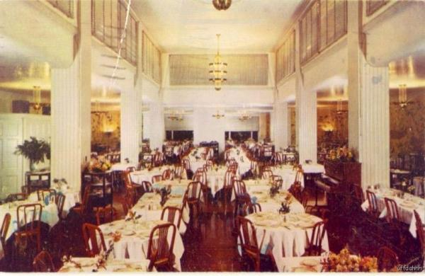 The dining room at the Buck Hill Inn, 1953.