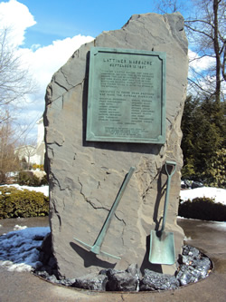 Memorial of Lattimer Massacre.