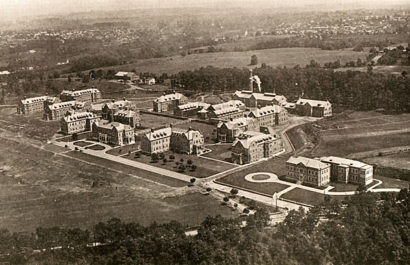Aerial view of the Pennhurst campus in 1934.