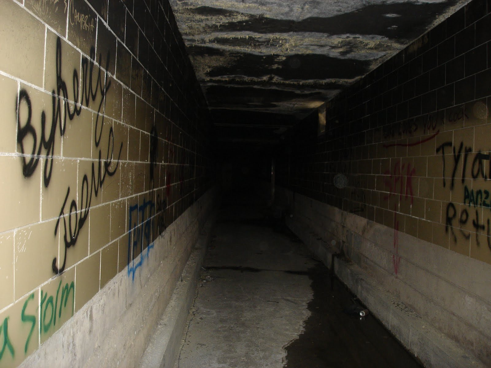 Abandoned underground tunnel at Pennhurst.