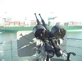 Gun aboard the SS Lane Victory.