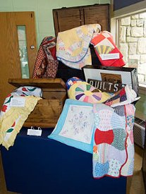 Local quilts on exhibit at the museum.