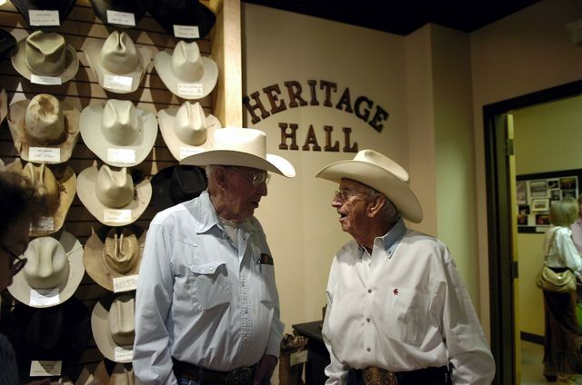 Western hats collection at Heritage Hall