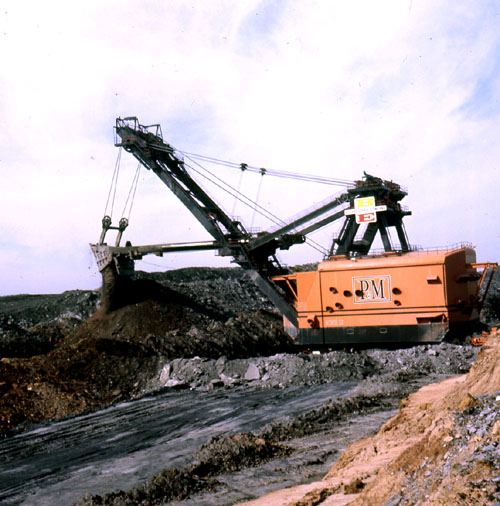 Big Brutus was used to mine coal from shallow seams in Southeastern Kansas.
