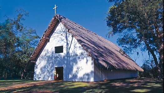 The reconstructed church is large, reflecting the strong influence Christianity had on the Apalachee and the close relationship the Franciscans had with them.