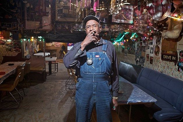 """Mr. Willie """"Po Monkey"""" Seaberry inside his iconic juke joint."""
