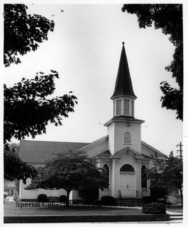 Church as seen in 1964. Photo courtesy of Marshall University Special Collections.