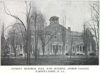 Anthony Memorial Hall, built it 1881, was the main building of Storer College.