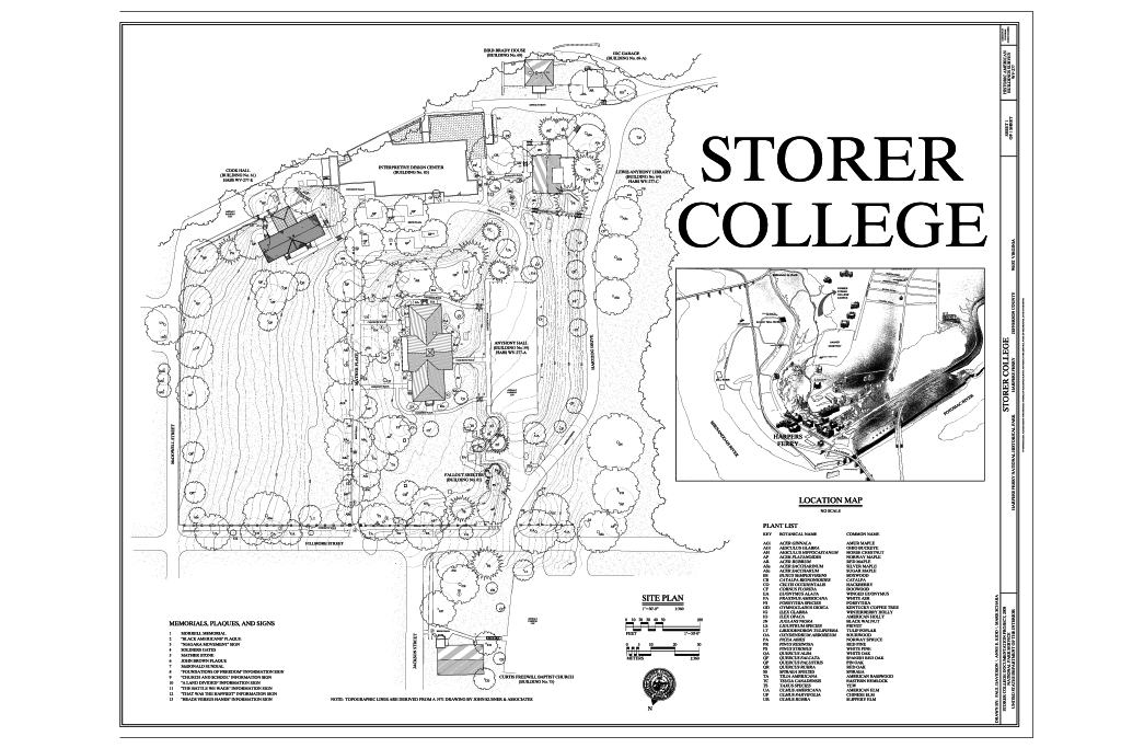 Storer College campus directory