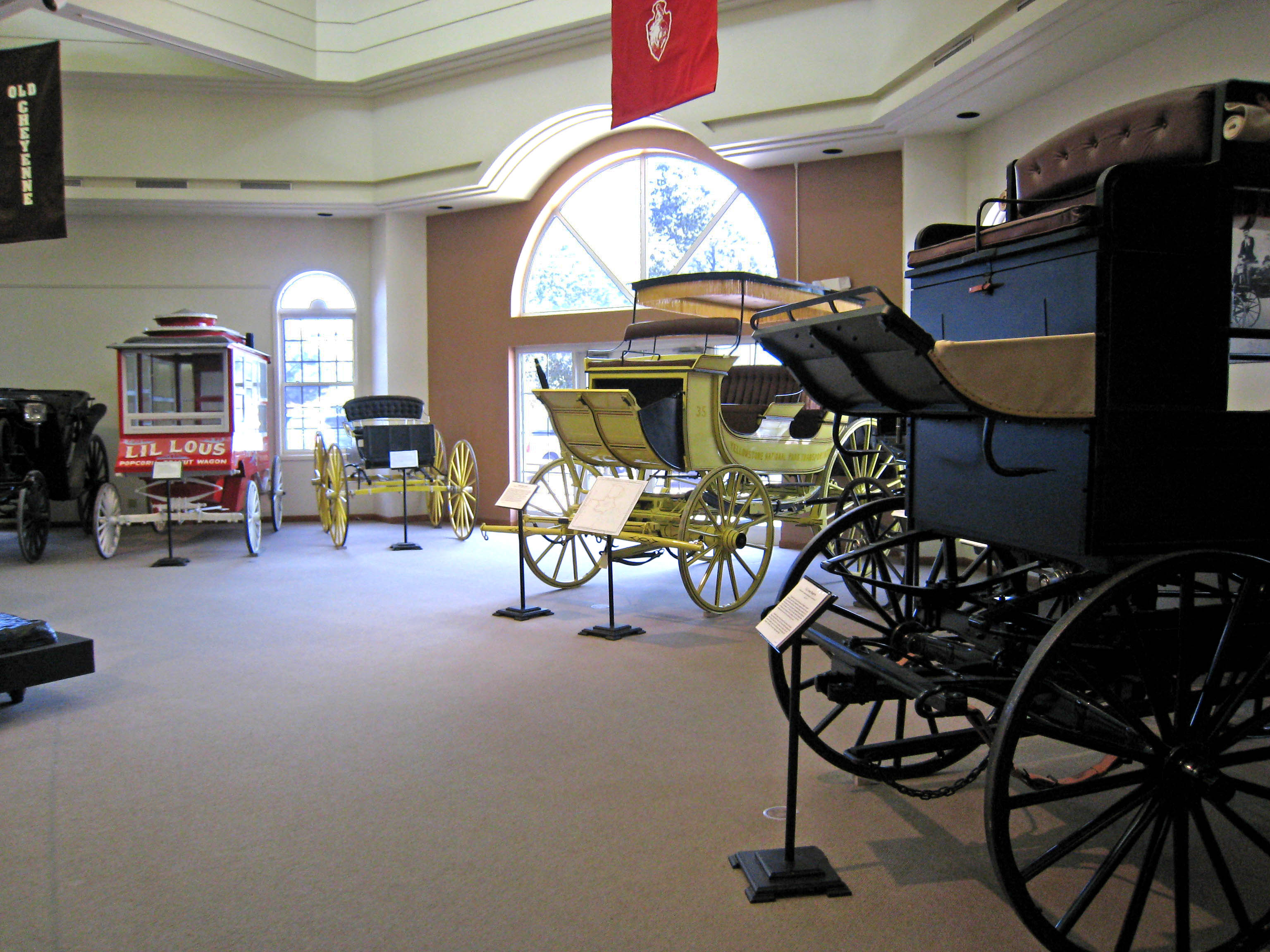 Some of the carriages housed in the museum