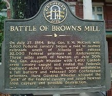 Battle of Brown's Mill Marker