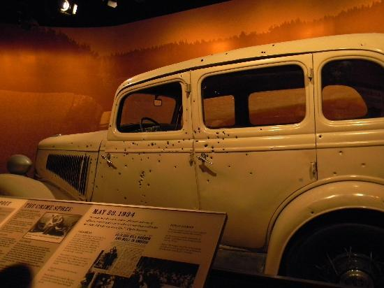 One of the exhibits on display was this car from the Bonnie and Clyde movie