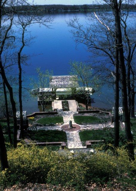 The manor's gardens, overlooking Gull Lake