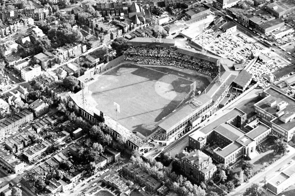 Another aerial photo of the old stadium