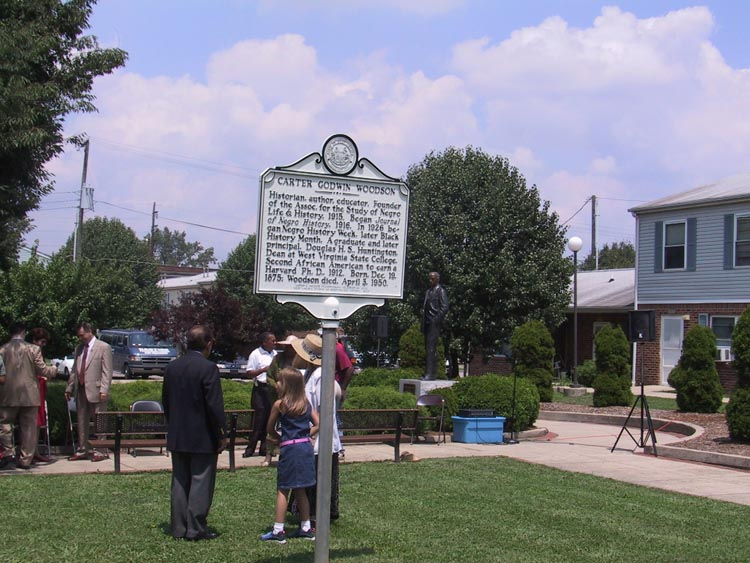 Preparing for dedication of roadside marker in 2003. www.wvculture.org.