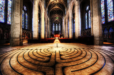 One of the labyrinths at Grace Cathedral