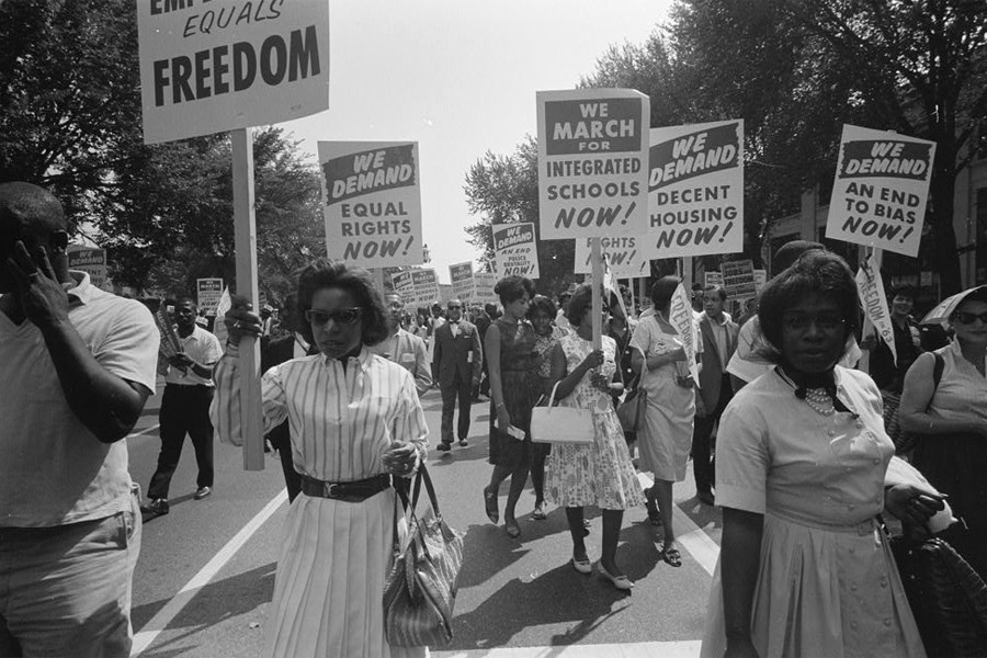 Protesters at the March on Washington
