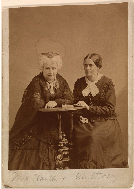 Photograph of Elizabeth Cady Stanton and Susan B. Anthony, pioneering activists who advocated for women's rights and the abolition of slavery. Courtesy of the National Portrait Gallery.