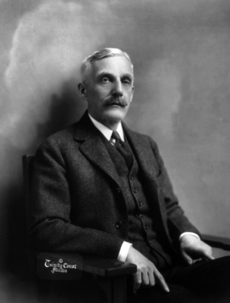 Andrew W. Mellon, banker, industrialist, and politician, donated portraits to the Smithsonian, which helped form both the Smithsonian American Art Museum and the National Portrait Gallery.