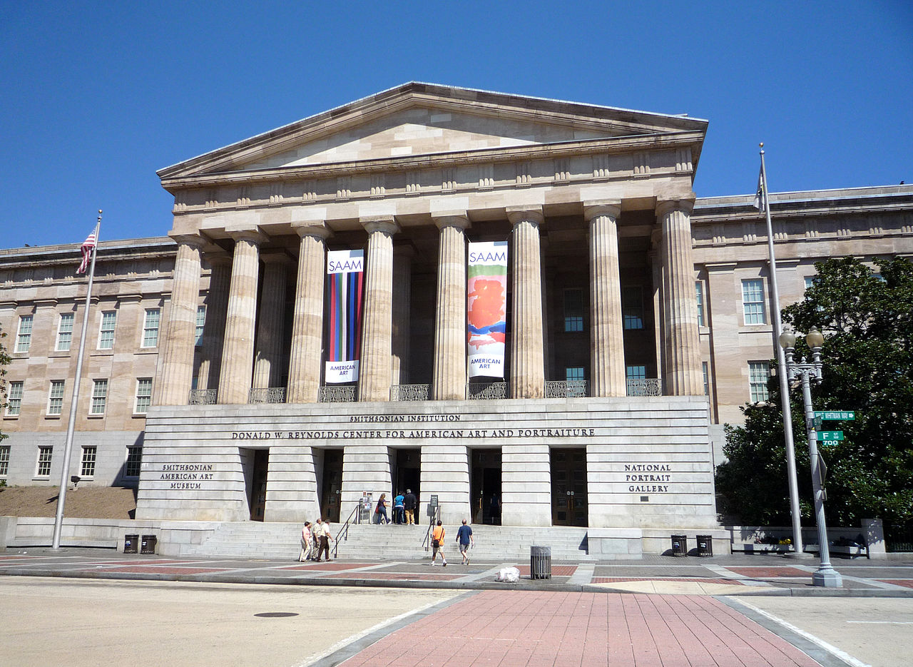 The National Portrait Gallery is located in the beautiful Old Patent Office Building. Its neoclassical design is modeled off the Parthenon in Athens, Greece.