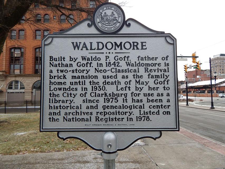 WV Historical Marker for Waldomore.