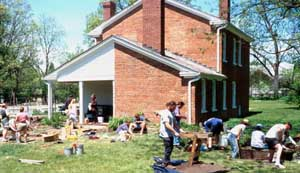 Archeological Dig at Plum Grove ~ Courtesy University of Iowa