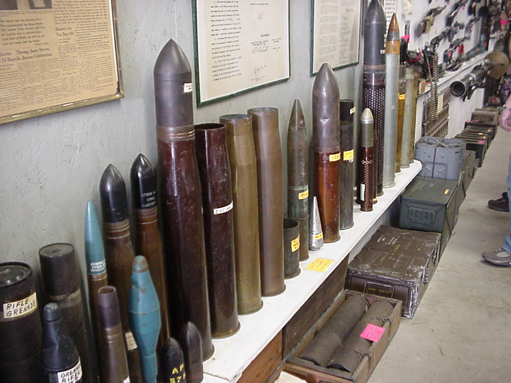 A view of the artillery collection.