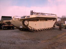 One of the many larger military vehicles at Top Kick's.