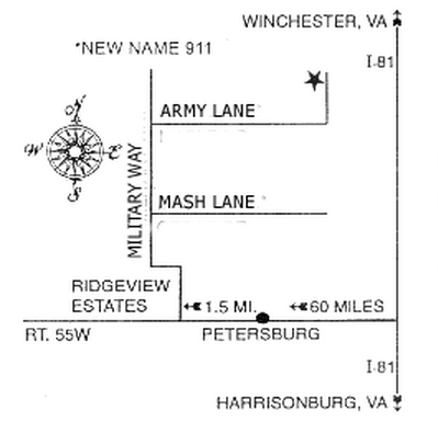 A map to the museum from Rt. 55.