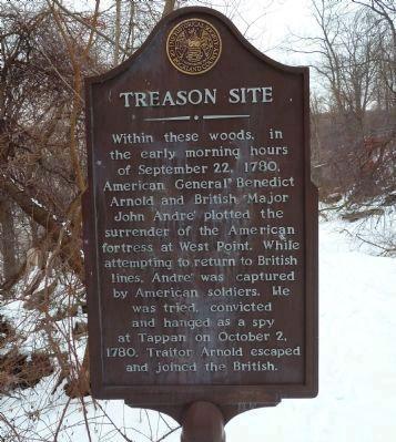 Marker of Benedict Arnold's treason spot