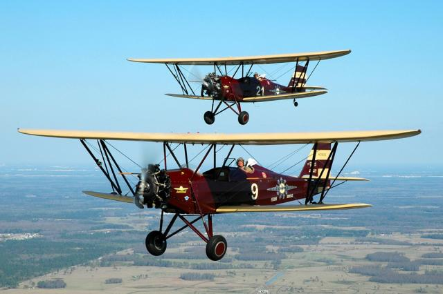 Real bi-planes, which visitors are welcomed to ride