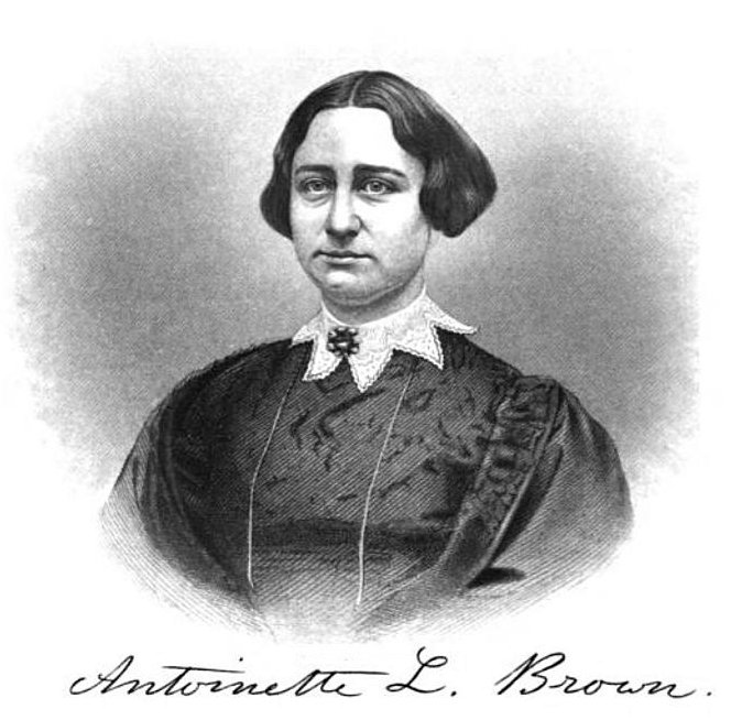 This photo is of Antoinette Brown, a young woman who Almira Porter Barnes influenced greatly. The photo is taken from the Oberlin College archives. The college is where these two prominent strong women first met and had a large impact on their legacies.