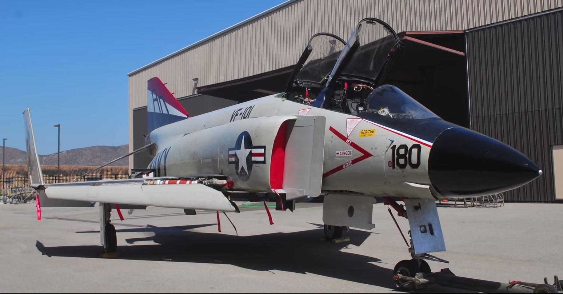 The restored F-4 Phantom