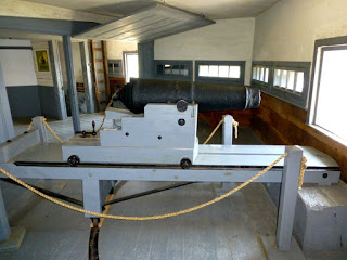 Mounted Cannon in the blockhouse.