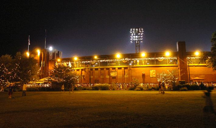 The Bosse Field at night