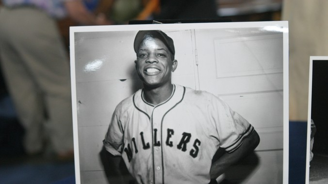 Willie Mays in his Minnesota Millers uniform