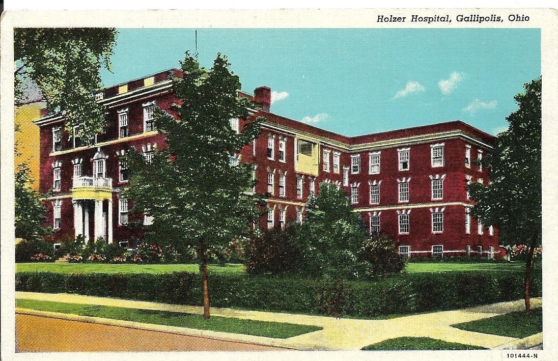 Holzer Hospital opened in 1917 and is now an apartment complex.