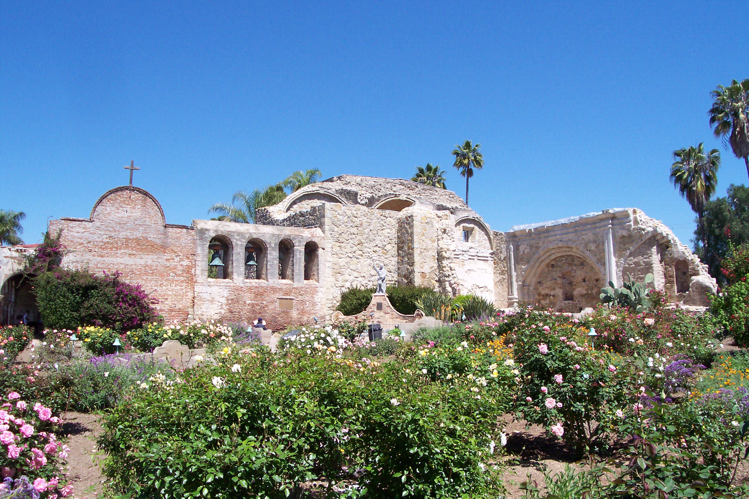 Mission San Juan Capistrano. The Mission chapel, though enlarged, is still original--and is the only one surviving in which the original founder of the California missions, Father Junipero Serra, is known to have celebrated Mass.