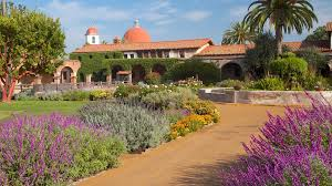 A section of the large and beautiful Mission San Juan Capistrano Garden