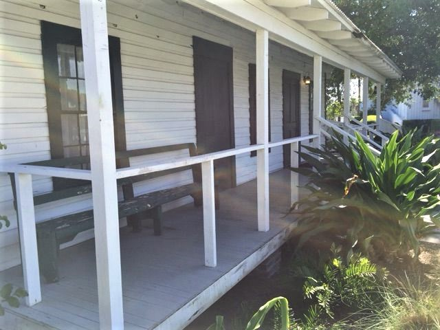 One of two outside porches typical of period rural cabins