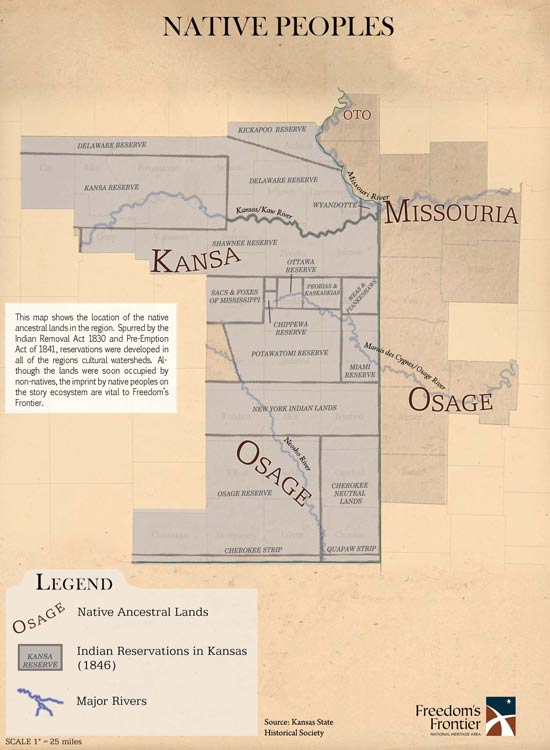 Native American lands and reservations in Kansas