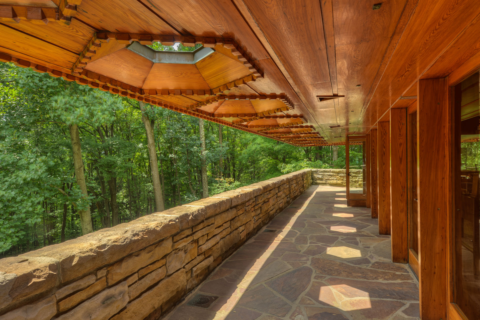The back porch of Kentuck Knob.