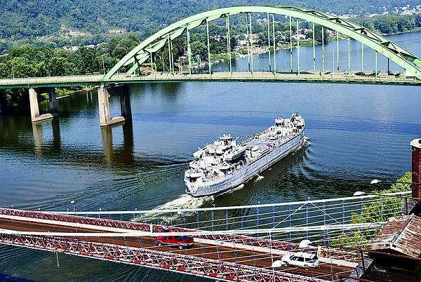 The LST-325 on the Ohio River in Wheeling, WV