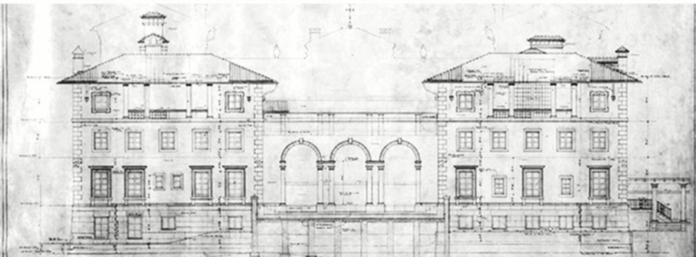 Architectural plan for the Villa.