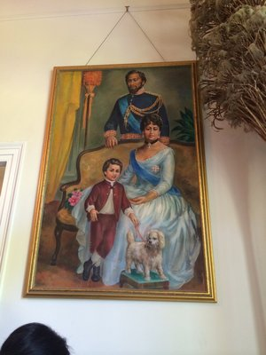 Queen Emma and her family painting