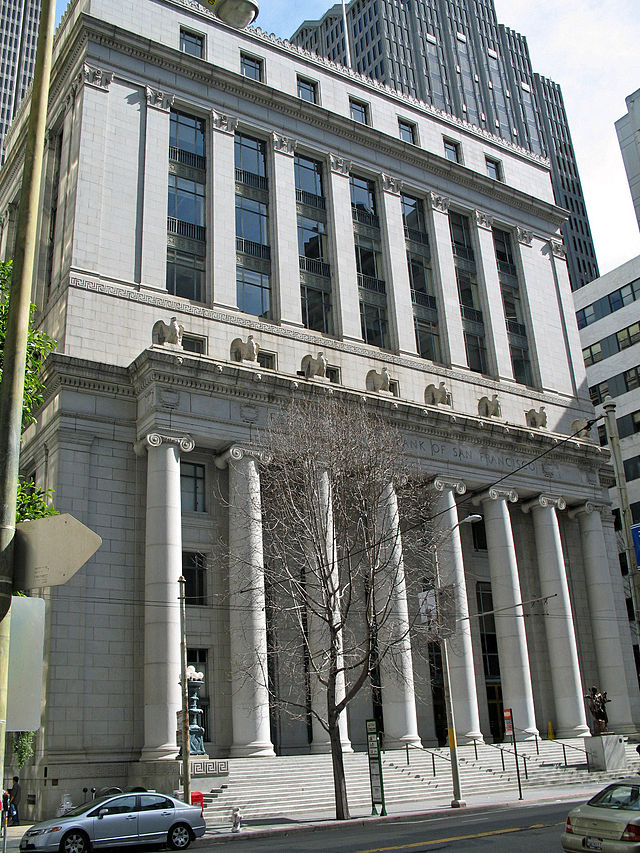 Constructed between 1920 and 1924, this building served as the main headquarters of the San Francisco branch of the Federal Reserve until 1983
