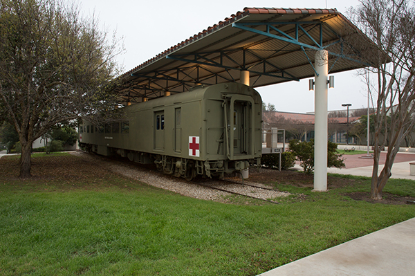 Train car used to transport the injured.